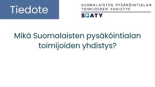 """Featured image for """"Suomalaisten pysäköintialan toimijoiden yhdistys"""""""